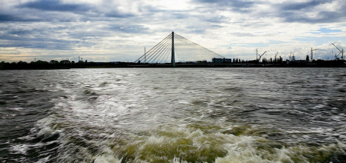 Widok na most #Morze #słońce #zatoka #żaglówka