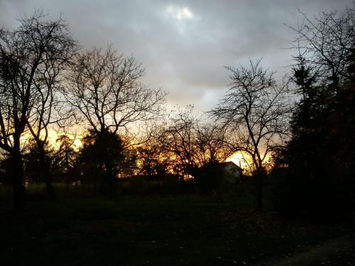 Znów wieczór skąpany zachodem słońca...
