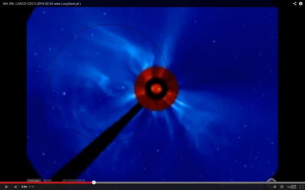 Zdjęcie zrobione z rozbłysku na słońcu,zarazem został zrobiony piktogram a czego to widać