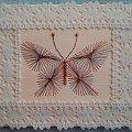 Obrazki z szycia wzięte - na podstawie wzoru ze stitchingcards.com #HaftMatematyczny #ObrazkiZSzyciaWzięte #motyl
