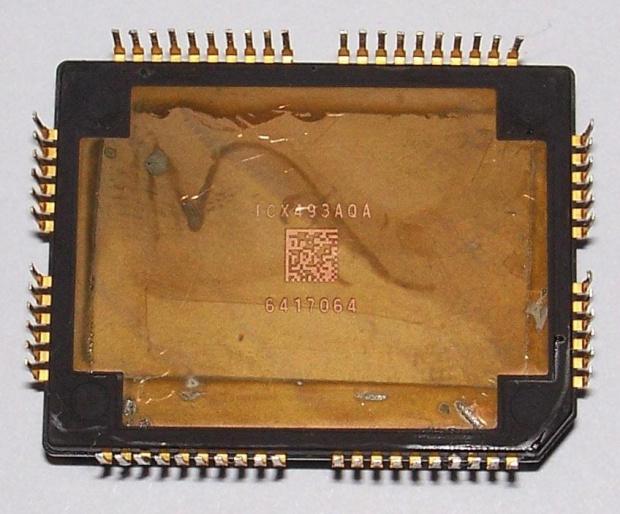 """Przetwornik CCD SONY ICX493AQA APS-C 1.8"""" 28.328mm (23.4 x 15.6 mm) z modułu IS-026 z lustrzanki SONY alpha 200 lub 300 #CCD #ICX493AQA #SONY"""